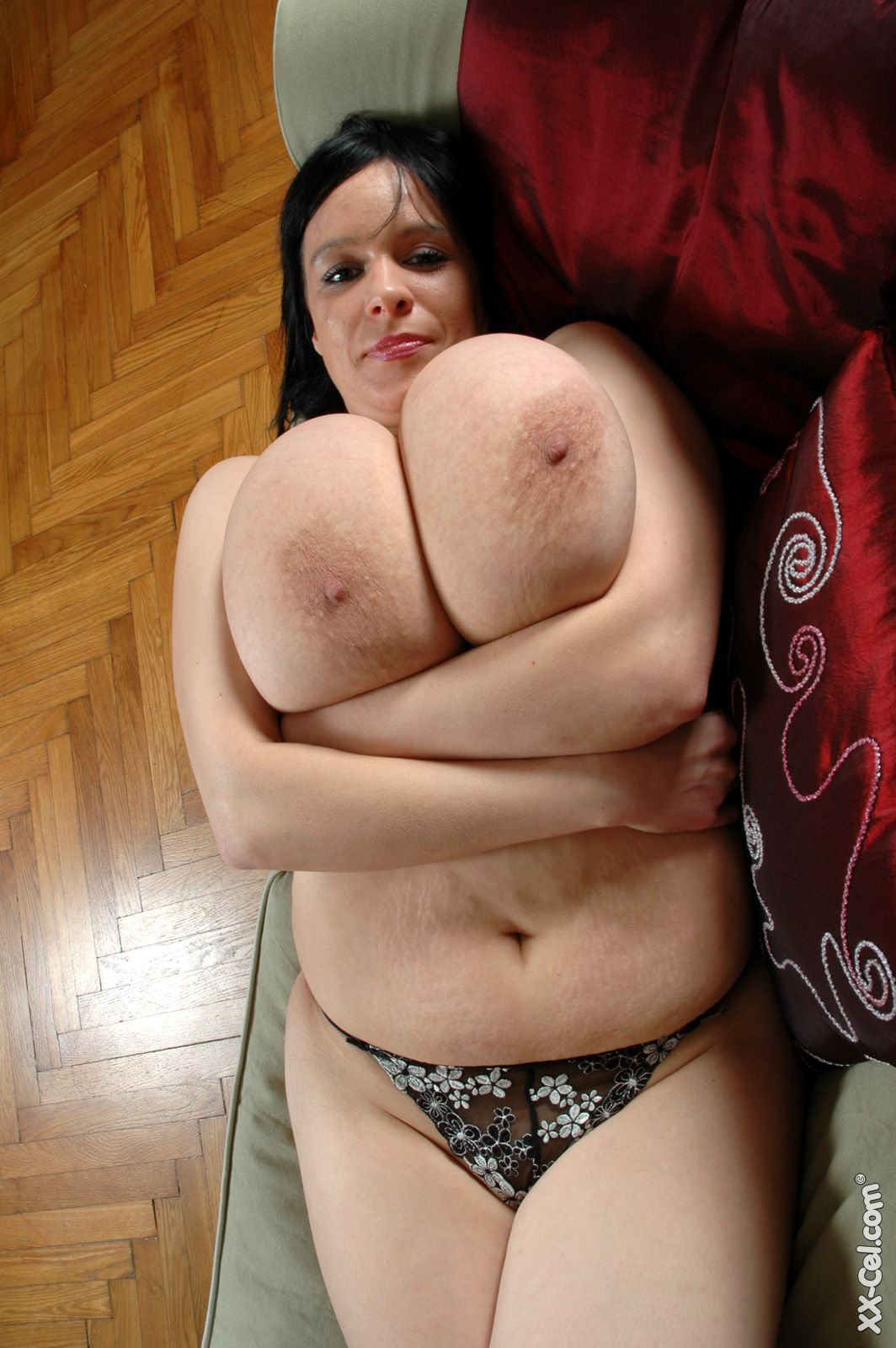 Enormous natural tits